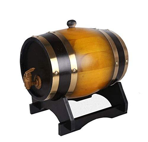 Barril de Roble del Barril de Vino, Vino de Madera Especial dispensador, Almacenamiento de Cerveza Whisky Vino cóctel de Ron 5L (Color : Orange)