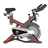 GZD Indoor Exercise Adjustable Resistance Bike Spinning Cycling Bike Stationary LCD Display Heart Rate Adjustable Foot Fitness Equipment Indoor Cycling Bike
