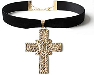 Yr258 Vintage Cross Necklace Ab Fashion Decoration Women Gift Preresent