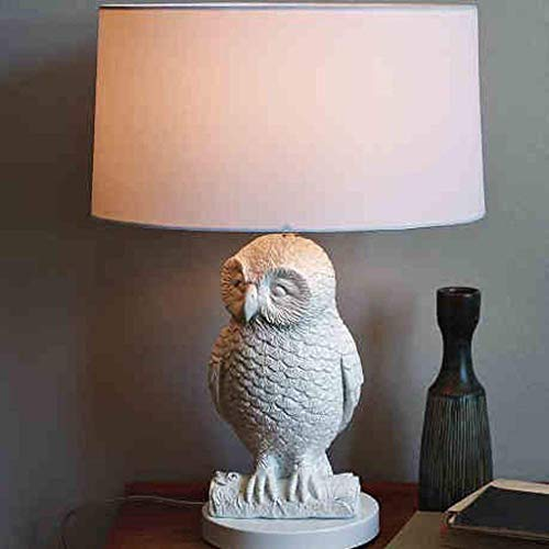 L-YINGZON Bedside and Table Lamps, Table Lamps, Personality Simple Owl Western Style Table Lamps, Study Lamp, Living Room Bedroom Bedside Lamp, Lighting Hotel Room Reading Night Light Indoor Lighting