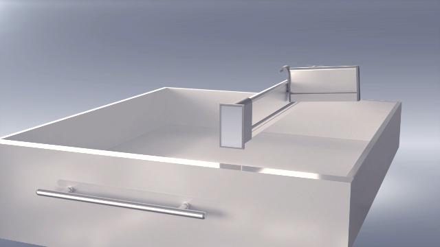 41UgBEniDoL PRACTICAL COMFORT Schubladen-Organizer, Verstellbarer Schubladeneinsatz aus Aluminium für Clutter-Freie Küche…