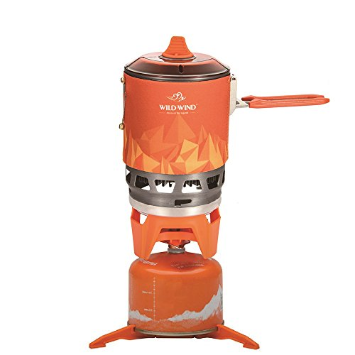 WILD-WIND Star X3 Outdoor Cooking System Portable Camping Stove with Piezo Ignition Pot Support. Packaging Stove