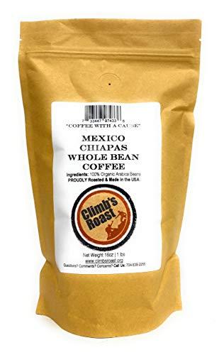 Climb's Roast Gourmet Whole Roasted Coffee Beans, 1 Pound, Mexican Chiapas