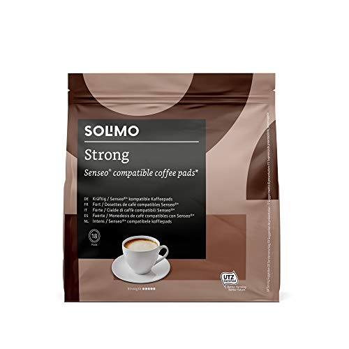 Marca Amazon - Solimo Senseo Pads Strong, 90 pads (5 Paquetes x 18)