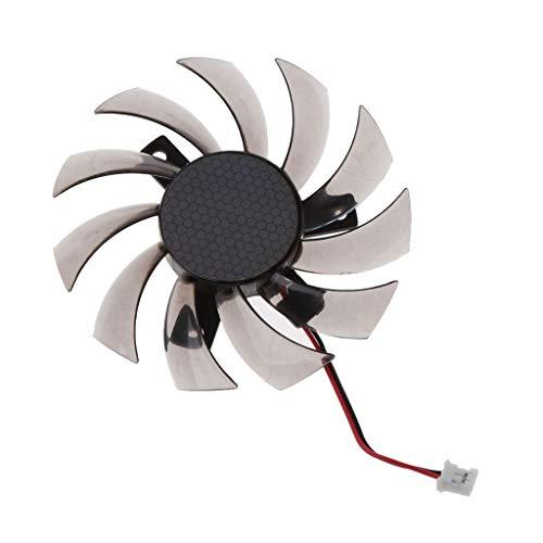 geneic 75MM PLD08010S12H 2Pin Cooler Fan Graphics Card Ventilador de refrigeración para Gigabyte 6850 7970 GTX 460 GTX560Ti R270X R7 260x