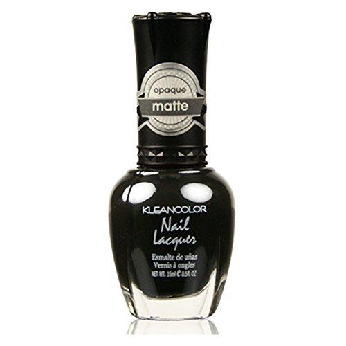 Kleancolor Matte Finish Nail Polish Matte Black