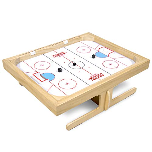 GoSports Magna Hockey Tabletop Board Game | Magnetic Game of Skill for Kids amp Adults White