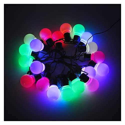 TIEHH Luces de Cadena al Aire Libre Luces de Cadena Solar al Aire Libre, LED Globe Bombilla Bombilla Luces de Cadena, Patio Exterior Patio Paisaje Boda, decoración del jardín
