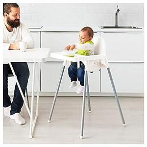 IKEA ANTILOP -Kinderhochstuhl mit Tablett silberfarben