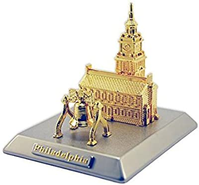 Xenos Gifts Gold-Plated Liberty Bell and Independence Hall Desk Set
