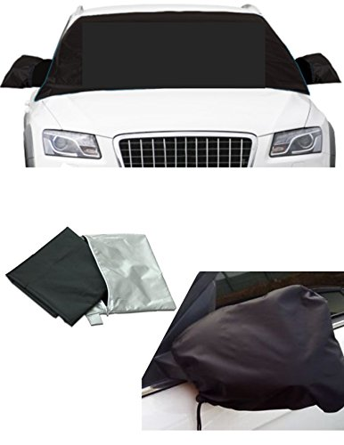 APSG ICE Snow Windshield Window Outside Cover Magnetic Shade Frost Rain, Waterproof Car Premium w/Mirror Covers