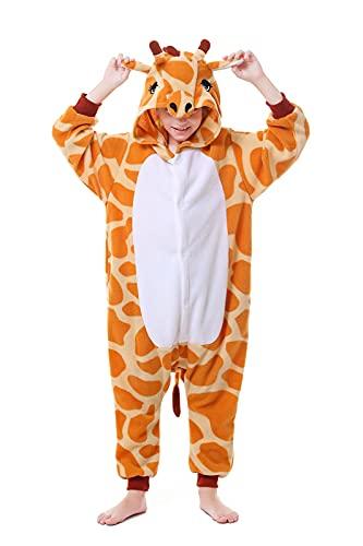 CANASOUR Polyster Halloween Kids Animal Costumes Cosplay Pajamas (8(115#), Giraffe Orange)