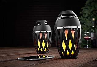 Sharper Image Tiki Torch Outdoor Bluetooth Speakers (Set of 2)