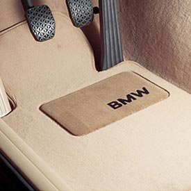 BMW 82-11-0-440-465 Carpeted Floor Mats with BMW Lettering Heel Pad-Vento Beige