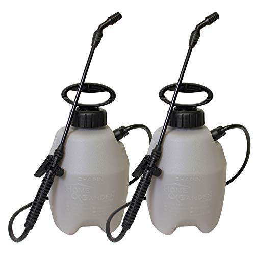 Chapin 16109 1-Gallon Home and Garden Sprayer-2 Pack, 1 Gallon 2-Pack, Translucent