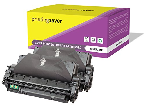 Printing Saver Pack de 2 tóners compatibles para HP Q7553X 53X Laserjet M2727 MFP M2727NF MFP M2727NFS MFP P2012 P2012N P2013 P2013N P2014 P2014N P2014X P2015 P2015D P2015DN P2015DTN P2015N P2015X