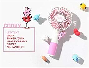 公式★BT21ハンディLED扇風機 携帯扇風機 2019 HANDYFAN7種 BTSグッズ 韓国語 (COOKY)