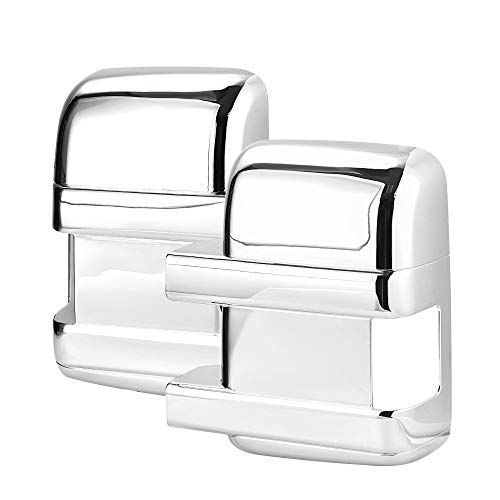 X AUTOHAUX Pair Chrome ABS Side Door Full Mirror Covers for Ford F250 F350 F450...