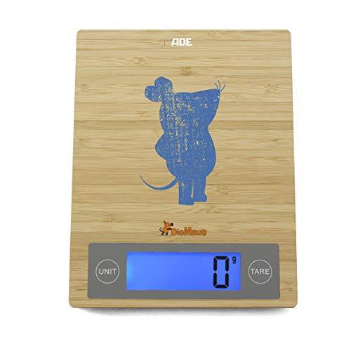 """Die Sendung mit der Maus - Küchenwaage \""""Edition Shabby Chic\"""" (Digitale Waage für Küche und Haushalt, Wiegefläche aus Bambus, grammgenau bis 5 kg)"""