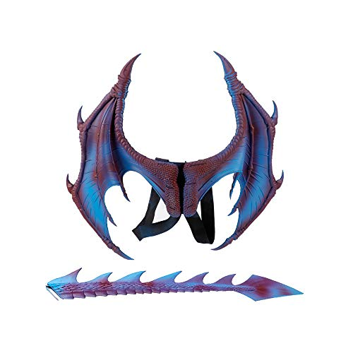 BaronHong Halloween Karneval Kostüm Cosplay Adlerflügel für Erwachsene ((Flügelschwanz) -lila, M)