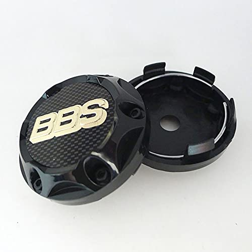 QUXING 4 Piezas Tapas Centro Tapacubos, para BBS 68mm Rueda Emblema Logo Insignia Llantas centrales Emblema Accesorios