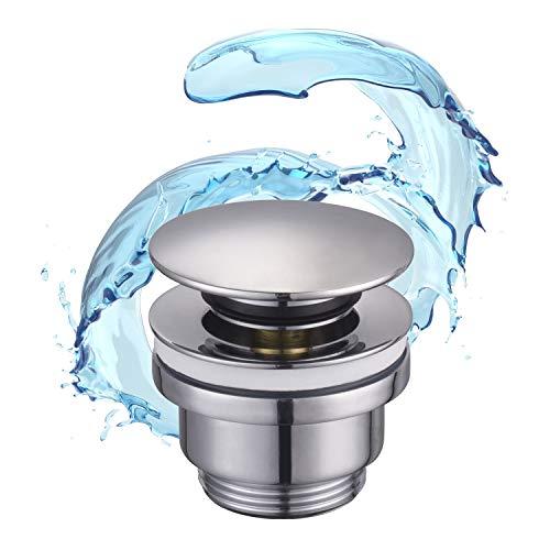STARBATH PLUS - Piletta click clack - Scarico universale per lavabo - Valvola per lavabo Click clack - Facile installazione - Cromato lucido