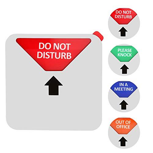 Kichwit Sichtschutzschild, Do Not Disturb Schild, Out of Office Schild, Please Knock Sign, In einem Meeting Schild, Büroschild, Konferenzschild für Büros silber