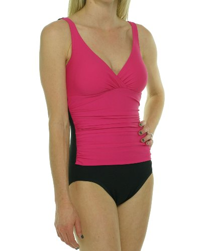 Tropical Honey Womens One Piece Swimsuit Pink/Black 10