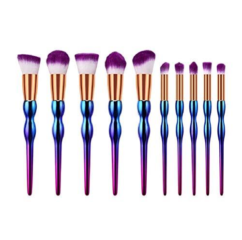 Koojawind Maquillage Pinceaux 5/7/10 Pcs Gourd Coloré Motif Blanc Et Violet Maquillage Professionnel Brush Set Multifonctionnel Concealer Eye Eye CrèMe Poudre Liquide Pinceaux Ensembles