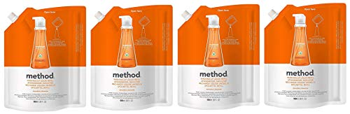 Method Dish Soap Refill, Clementine, 36 Ounce (Pack 4)