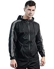 FLYGAGA Bastu Kostym Män Jacka Svett Byxa Viktminskning Gym Träning Svettdräkter
