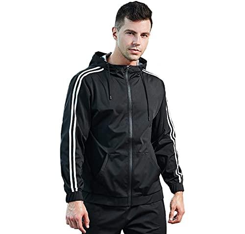 FLYGAGA Ropa de Sauna Adelgazantes Hombre Trajes de sudoración para Fitness Neopreno de Sauna Pantalones Deportivos