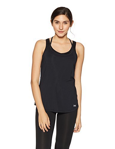 Under Armour Fly by Racerback Women's Empire Tank Top (1293483-001_Black_Large)