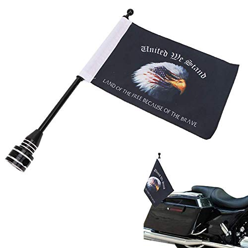 Eagle on American Flag 6 x 9'' Flags Motorcycle Flag Pole Mount For Honda Goldwing CB VTX CBR Yamaha Harley Davidson All Weather Double Sided Flag Rack