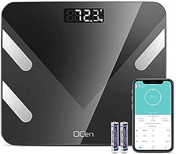 QCen Body Fat Bluetooth Smart Digital Bathroom Weight Scale