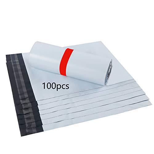HVDHYY Bolsas para Envíos Sobres de Postales Plástico de Genérico Envío por correo Bolsas Polietileno Autoadhesivas Embalaje Sobres para Postales Blanco Bolsas Opaca (30cm X 42cm blanco)