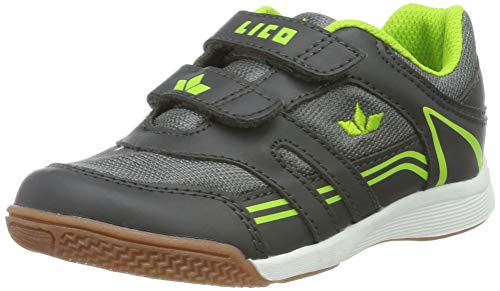 Lico Jungen Active Boy V Multisport Indoor Schuhe, Grau (Grau/Lemon Grau/Lemon), 28 EU