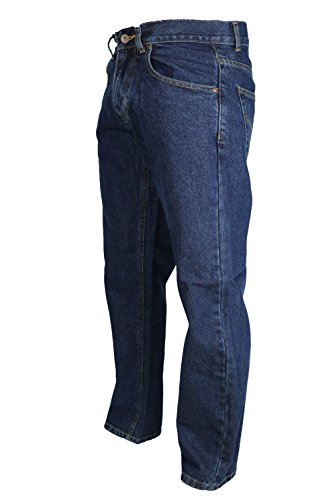 Raphael Valencino Mens Slim Fit Blue Denim Jeans with Zip Fly and Button 30-48