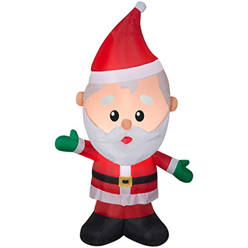 Gemmy 4FT Tall Santa Claus Inflatable Indoor/Outdoor Holiday Decoration