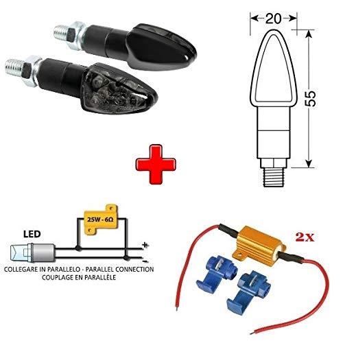 Compatible con Royal Enfield Electra Trial 500 1 PAR DE Indicadores LED...