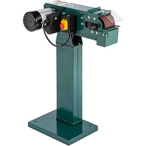 "Grizzly Industrial G0897-4"" x 48"" 2-Wheel Metal Belt Grinder/Sander"