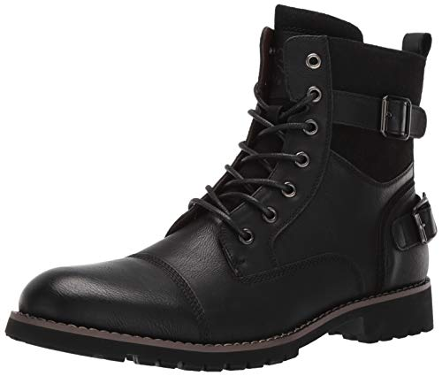 Polar Fox Men's Patrick Combat Boot, Black, 7.5 Medium US