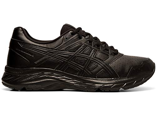 ASICS Women's Gel-Contend 5 SL Walking Shoes, 8M, Black/Graphite Grey