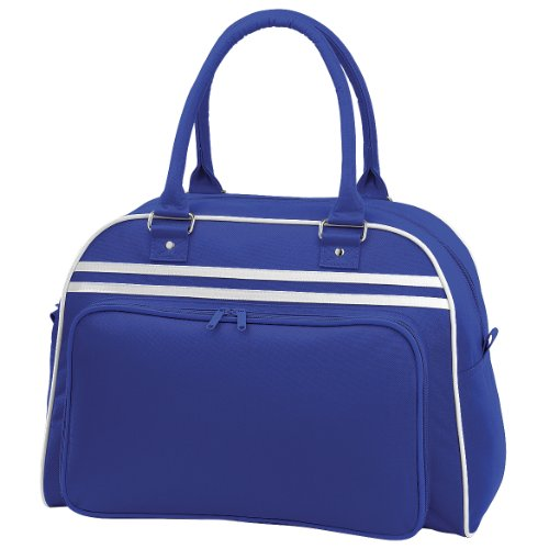 Bagbase Retro Bowling Tasche (23 Liter) One Size,Royalblau/Weiß