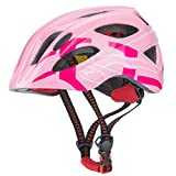 GPMTER Kids Bike Helmet, Adjustable from Toddler to Child Size Ages 9-14 Girls Boys, Safety for Bicycle Scooter Skateboard Rollerblading Cycling Balance Bike (Pink, 9-14 Years)