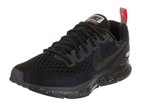 NIKE W Air Zoom Pegasus 34 Shield 907328-001 Black/Obsidian Women's Running Shoes (6)