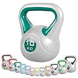 GORILLA SPORTS® Kettlebell-Komplettset Kunststoff 113 kg - 11er Kugelhantel-KombiStylish 2-20 kg