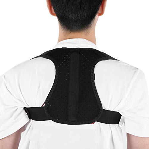 Correttore di postura Cintura Raddrizzatore del tutore per la schiena Correzione della postura Supporto per allenatore della postura per la correzione della colonna vertebrale Alleviare il mal(XL)