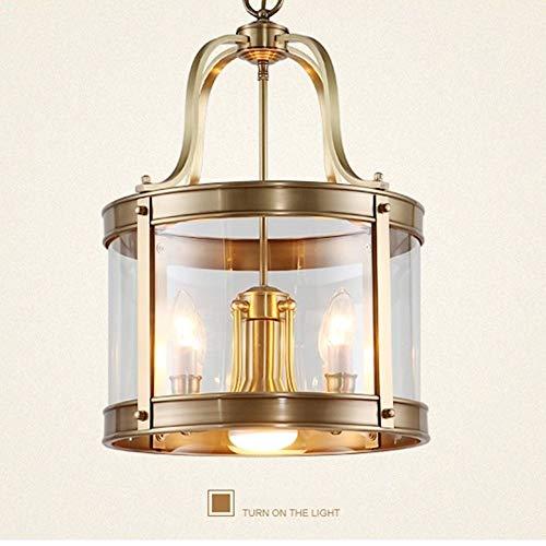 Stella Fella Lámpara de Cobre Europea Lámpara de Pasillo Lámpara de Restaurante de país Americano Lámpara de Soldadura Redonda Lámpara de Jaula Lámpara de Cobre 370 (mm)