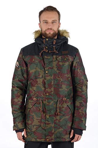 Stayer Veste thermique isolée imperméable pour homme Motif camouflage FR:46 Camouflage Braun Grün